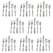 Towle Stockholm 18/10 Stainless Steel 40pc. Flatware Set Service For Eight
