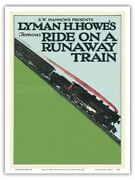 Lyman H. Howe's Famous Ride On A Runaway Train - 1921 Vintage Movie Poster Print