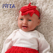 Ivita Cute 50cm Silicone Rebirth Baby Doll Girl Babies+clothes Xmas Gift Toys