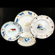 Jackand039s Farm By Wood And Sons 5 Piece Place Setting Made In England New Never Used