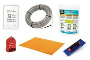 Schluter Ditra Floor Heat Safety Kit Wifi Programmable Thermostat And Membrane