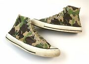 Vintage 80s Converse Chuck Taylor Camo Shoes Size 9 Mens Camouflage Sneakers Usa