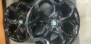 20 Bmw X5 X6 Staggard Oem Gloss Black Wheels Only