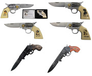 Collectible Folding Gun Knife - Pancho Villa Billy The Kid Wyatt Earp And Others
