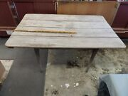 Antique Primitive Very Solid --log Cabin Pegged Kitchen Table