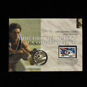 1992-s Us Olympic Games Half Dollar And Stamp Otb251