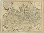 Antique Map Of The Russian Empire In Europe By Vaugondy 1750