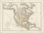 Antique Map Of North America By Tardieu 1821