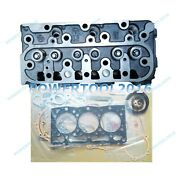 D1105 Cylinder Head Assy Full Gasket For Kubota 2400hst-d Tractor F2400 Mower
