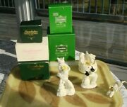 Lot Of 5 Snowbabies Dept. 56 Christmas And 1 Easter Music Boc,mickey And More