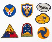 Lot Of 7 Vintage Wwii Military Air Force Patches Felt Embroidered And Iron On