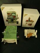 26 Signatures Rare 2012 Hallmark Mrs. Clausand039s Stove And Kitchen Table Ornament Set