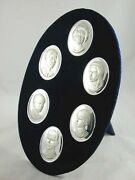 British Royal Family Splendid Boxed Sterling Silver Cameo Collection 1972