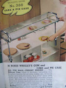 1937 Vintage Salesman Advertising Grocery Wrigleyand039s Gum Sign Cake And Pie Case