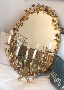 Antique Italian Tole Lighted Mirror Sconce Incredible And Gorgeous