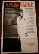 Al Pacino Signed Scarface Authentic Movie Poster Original Folded Beckett Coa