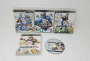 5 Ps3 Nfl Video Games Madden 10, 11, 13, 15, Madden 25, For Sony Playstation 3