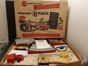 Antique Speedway 8 Race Track Setmade In Usa