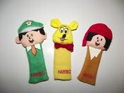 Vintage Haribo Finger Puppets X 3 Rare 1980's German Sweet Promotion Toys