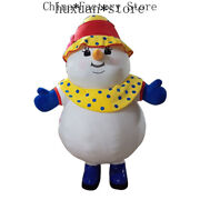 Christmas Inflatable Snowman Mascot Costume Cosplay Party Game Dress Xmas Adults
