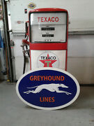 Large 37 Inch Vintage Style Greyhound Lines Sign