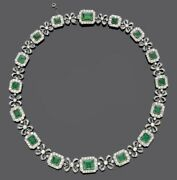 Vintage Style 925 Sterling Silver Green Emerald Round Halo Bow Highend Jewelry