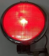 Vintage Rare 8andrdquo Dietz 475 Red Tail Light Stop 6-v Glass Early Truck Trailer Bus