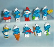 The Smurfs Music Band And Gardener Figure Set Kinder Surprise Egg Toy Or Gumball