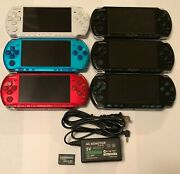 Black Blue Red Silver Sony Psp 3000 System 4gb Bundle Import Tested