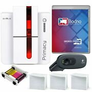 Evolis Primacy Single Sided Id Card Printer And Complete Supplies Package