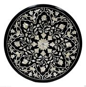 2and039x2and039 Marble Side Coffee Table Top Mother Of Pearl Inlay Living Room Decor Gifts