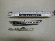 Vintage 1960and039s Chevrolet Chevelle Emblems Corvair