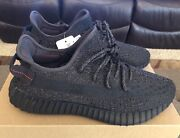Deadstock Adidas Yeezy Boost 350 V2 Black Reflective Size 10.5 Rf Ds