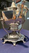 Theodore B. Starr Sterling Silver Hot Water Kettle On Stand Not Monogrammed