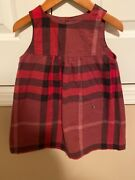 Girls Dress In Check Print In Size 2y/2t/2a