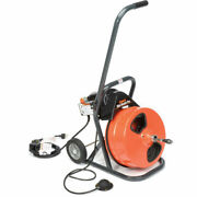 New Mini-rooter Pro Drain/sewer Cleaning Machine W/ 75' X 3/8cable And Cutters