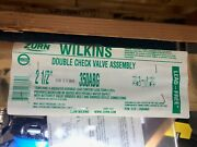 New Zurn Wilkins 2 1/2 350abg Double Check Valve Assembly Pn 212-350abg