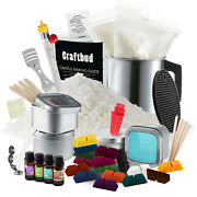 Candle Making Kit Soy Wax Flakes Wicks Pitcher Fragrance Oil 16 Color Dyes