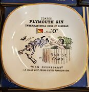 Coates Plymouth Gin Signal Flag Dishes - Complete Set Of 27 - Original Packaging