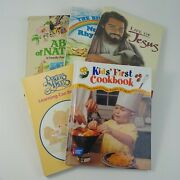 Lot Of 6 Large Childrens Picture Books Bible Stories Nature Jesus Learning Cook
