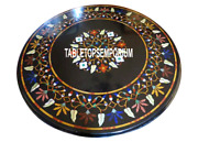 36 Marble Top Dining Table Multi Stone Pietra Dure Inlay Garden Home Decor Gift