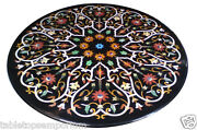 3.5and039x3.5and039 Marble Dining Table Top Handmade Marquetry Mosaic Christmas Decor Gift