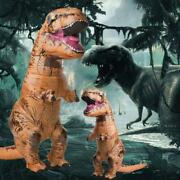 T-rex Inflatable Cosplay Dinosaur Costume Jurassic Blow Up Adults Party Outfit