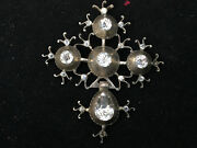 Cross Signature Normandy Xix ° Solid Silver Antique French Jewelry Regional