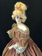 Doll Of Fashion Face Wax Towards 1900 Hands Biscuits Antique Doll French