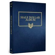 New Whitman Album For Half Dollar Coins Blank 32 Opening Holes 2 Page Gift Idea