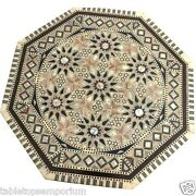 24x24 Marble Side Coffee Table Top Marquetry Mosaic Inlay Hallway Home Decor