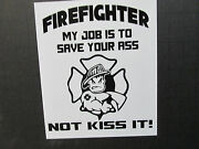 Firefighter Sticker For The ..hot Rods Gasser Rat Rods And Working Man.