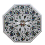 30 Marble Top Console Table Pauashell Floral Stones Inlay Hallway Outdoor Decor