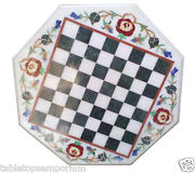 30x30 Marble Coffee Chess Table Top Mosaic Inlay Marquetry Garden Living Decor